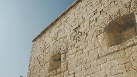 Old Roman Rock Architecture Live Action