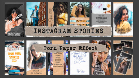 Paper Stories for Instagram After Effectsテンプレート