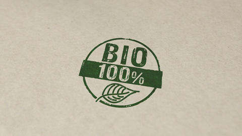 100 percent bio stamp and stamping animation Animation