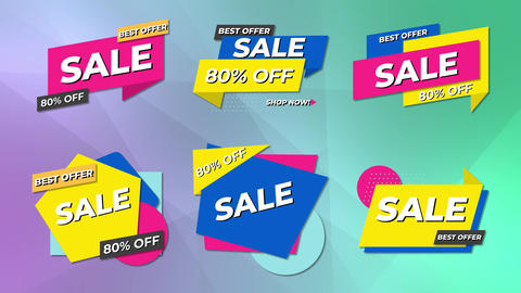 Sales Shape Banners Motion Graphics Template