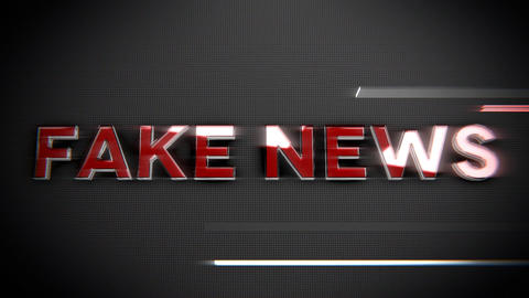Fake news-Glass and Chrome Title Animation