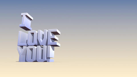 I love you-Textfall Outro Animation