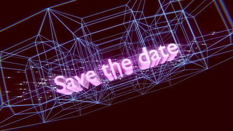 Save the date-Wireframe Outro Animation