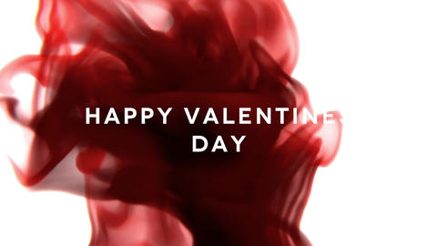 Happy Valentines Day-Ink Drop Title Animation