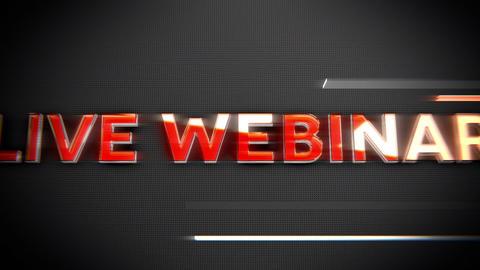 Live webinar-Glass and Chrome Title Animation