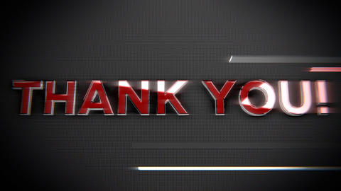Thank you-Glass and Chrome Title Animation