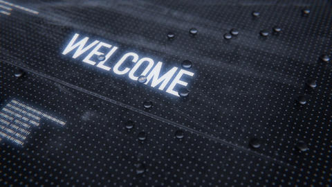 Welcome-Rainy Glass Title Animation