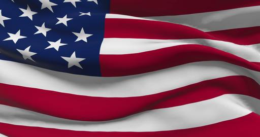 American Flag Patriotic Symbol Animation Live Action