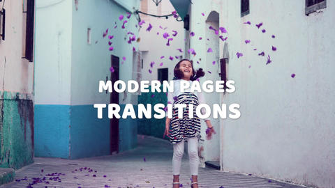 Modern Pages Transitions After Effects Template
