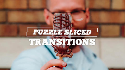 Puzzle Sliced Transitions After Effects Template