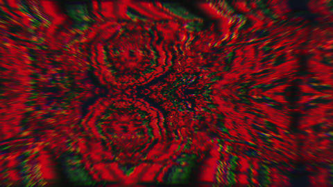 Abstract polychrome texture. bad trip effect, Digital animation Live Action