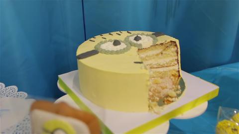 Children Birthday Cake Cutting Live Action