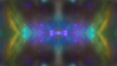 Mirrored rainbow background. Natural light leaks. Light beams pulses randomly Live Action