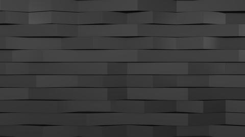 1047 3D rendering of black gloss plastic waves GIF