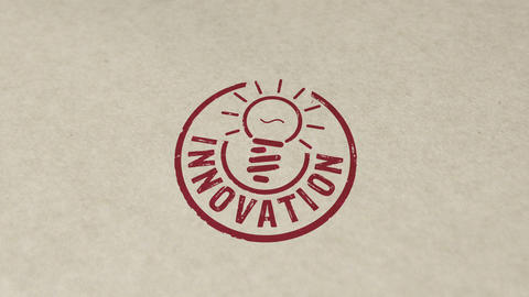 Innovation stamp and stamping animation Animation