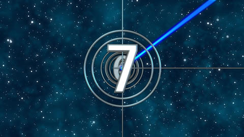IMAX style Count Down with 5sec space field for your title,logo Animation