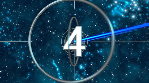 IMAX style Count Down with 5sec space field for your… Stock Video Footage