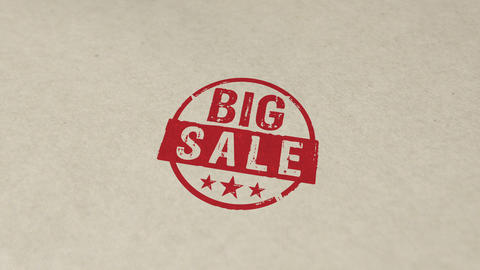 Big sale stamp and stamping animation Animation