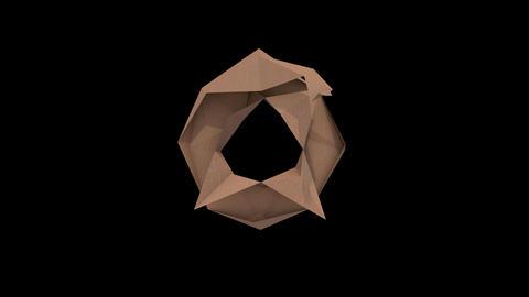 Animated low polygon cardoard typeface 0 cb Animation