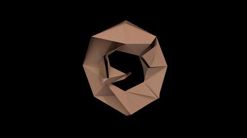 Animated low polygon cardoard typeface O cb Animation