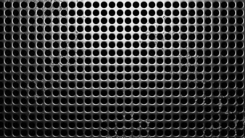 Perforated metal on black background Animation