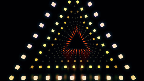 1980s style triangle light animation in neon colors Animation