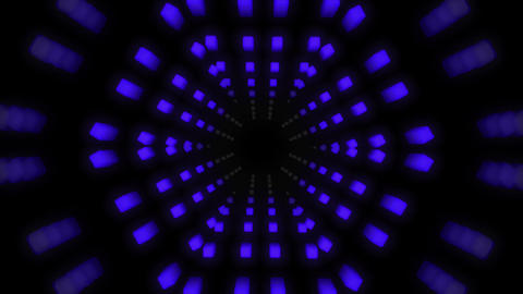1980s style retro inspired 3D triangle tube background. Camera zooms through tube for a great 3D Animation