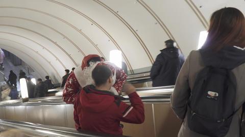 Santa Claus in a suit Live Action