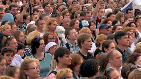 Crowd at Concert Footage