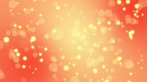 Bright orange yellow particle background Animation