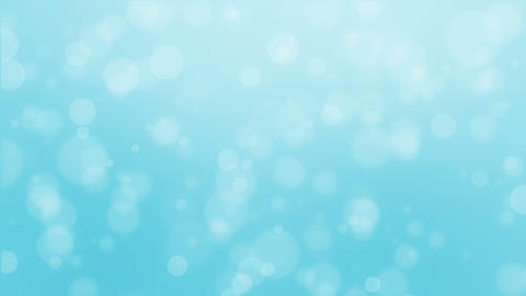 Dreamy light turquoise blue bokeh background Animation