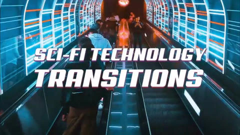 Sci-Fi Technology Transitions Plantilla de After Effects