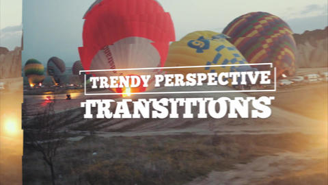 Trendy Perspective Transitions After Effects Template
