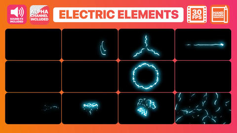 Cartoon Electricity And Titles Plantilla de Apple Motion
