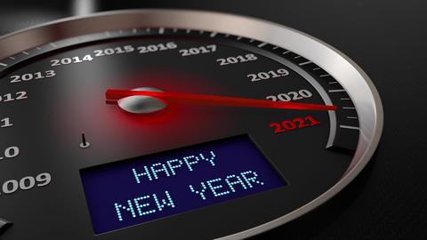 Speedometer Happy New Year 2021 Animation