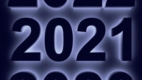 Blue figures 2021 GIF