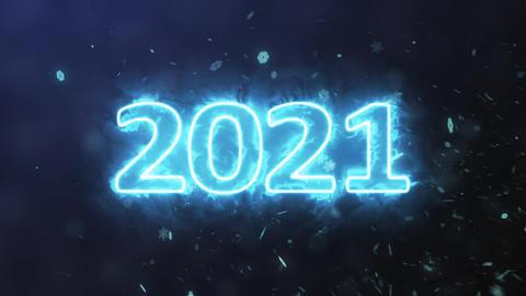 Number 2021 plasma Animation