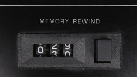 Close-up, analog counter countdown from thirty-five to zero Live Action