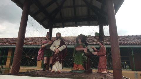 Negombo, Sri Lanka, figurines of the gods under the canopy Live Action