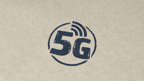 5G network stamp and stamping animation Animation