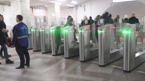 Open turnstiles of the Moscow Live Action