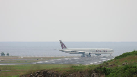 Airplane before departure from Phuket GIF