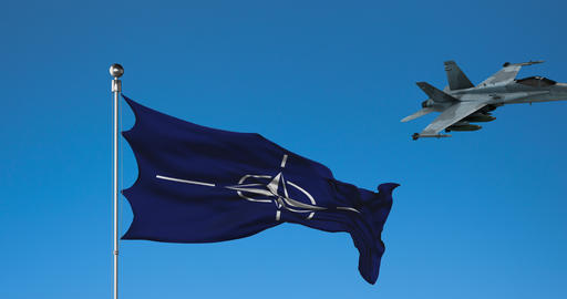 Combat Aircraft and the Flag of NATO Live Action