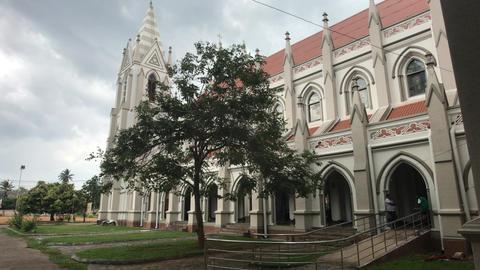 Negombo, Sri Lanka, November 23, 2019, St. Sebastian Church, church building Live Action