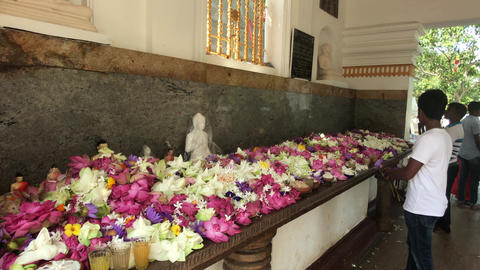 Anuradhapura, Sri Lanka, event in the temple 3 part Live Action