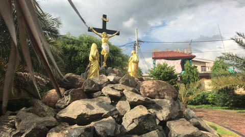 Negombo, Sri Lanka, November 23, 2019, St. Sebastian Church, church grounds Live Action