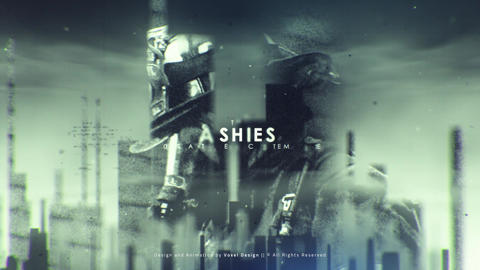 ASHES Cinematic Titles After Effectsテンプレート