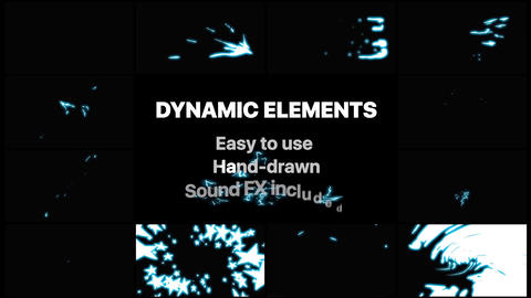 Dynamic Elements Apple Motion Template