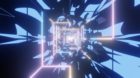 abstract glowing wireframe design graphics artworks with abstract camouflage 3d Animation