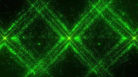 Green X Particles Grid Loop Motion Graphic Background Animation